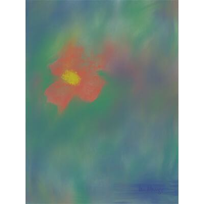 Floral painting, abstracted, color of peace, visual art, intuitive creativity, spiritual drawings, religious artist, artistic practice, artistic expression, healing art, aesthetic sense,