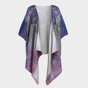 Kimono Drape Harvey Fire Flood Donation Angel Hope wearable art